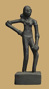 "The ""dancing girl of Mohenjo Daro"", Harappan period of the Indus Valley Civilization (3300 - 1300 BCE), Pakistan"