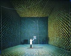 Building Research Establishment anechoic chamber, north of London and the largest in Europe