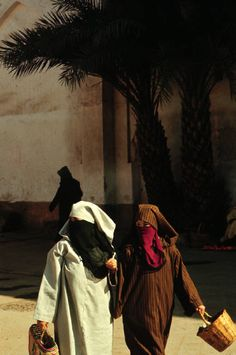 Morocco  Marrakech Going to the market 1972