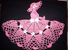 Blarney's Cro-Web: Crinoline Ladies - Updated as of July 11 Thread Crochet, Filet Crochet, Crochet Motif, Crochet Dolls, Crochet Yarn, Crochet Flowers, Crochet Stitches, Potholder Patterns, Doily Patterns