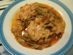 Culinary Couture: Green beans with Onions, Tomatoes, and Chicken