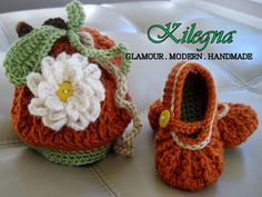 Pumpkin Baby crochet mary jane shoes booties and by Kilegna, $39.95