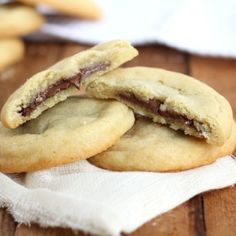 Amazing cookies with Nutella filling.