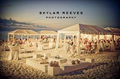Wedding reception on Seven Mile Beach Grand Cayman by Celebrations Ltd.