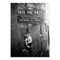 Jeune Amour Vintage Save the Date Personalized Invitations