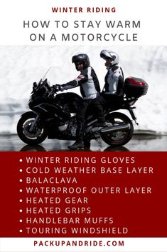 Don't let cold weather keep you from riding. Find out more about gear and clothing to keep you warm on your motorcycle. Motorcycle Safety Gear, Motorcycle Riding Gloves, Motorcycle Shoes, Motorcycle Travel, Riding Gear, Motorcycle Touring, Women Motorcycle, Best Winter Gloves, Full Face Helmets