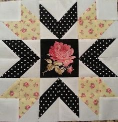 A fussy cut focal point in a quilt block