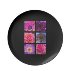 Pink and Purple Flowers Party Plate $28.10