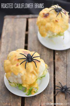 Roasted Cauliflower Brains {Halloween Idea}