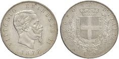 NumisBids: Nomisma Spa Auction 50, Lot 397 : Vittorio Emanuele II (1861-1878) 5 Lire 1872 R – Pag. 495; Mont....