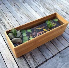 Belle bambou miniature Koi Pond par rezinology sur Etsy
