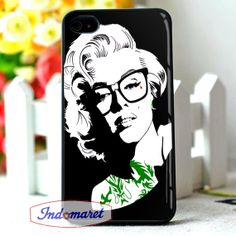 hipster marilyn monroe iPhone 4/4s iPhone 5/5s/5c by Indomaret, $10.00