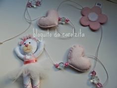 Pingentes de cortina: passarinho e ursinha bailarina - Bloguito da Carolzita