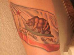california tattoo | California state flag tattoo