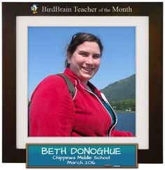March Teacher of the Month! Read our interview with Beth on the blog.   http://blog.birdbrainscience.com/beth-donoghue-is-our-teacher-of-the-month/