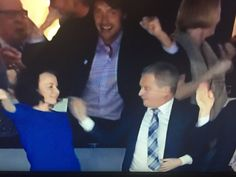 Juhlat voivat alkaa! Pikkuleijonat maailman parhaita! #u20fi — with President Sauli Niinistö, Jenni Haukio, Teemu Selänne and Kalevi Kummola. --  Finnish young lions just won ice hockey world championship! #u20fi