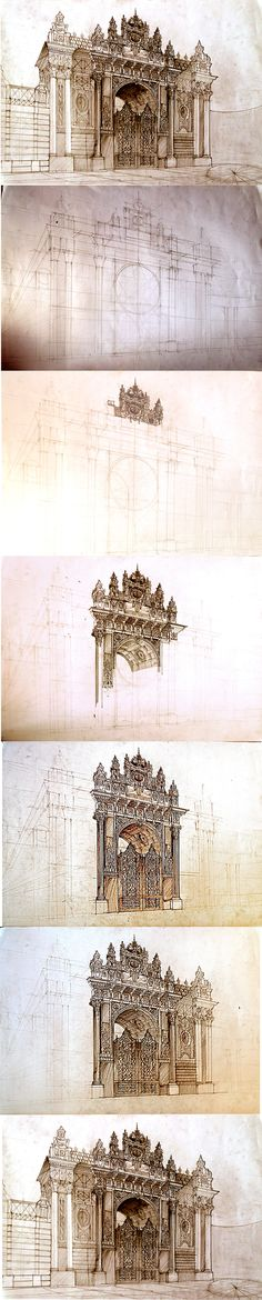 Istanbul free hand drawing on Behance