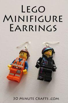 Lego Minifigure Earrings
