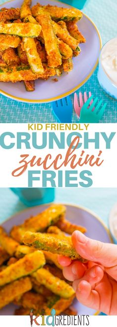 Zucchini chippies, perfect way to make veggies more fun! Yummy and crunchy, with just the right amount of squish! #kidsfood #veggies #zucchini #familyfoods #chips #fries via @kidgredients