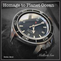 Seiko SKX007 Planet Ocean Diver Watch Analog Mechanical Automatic Easy Read Mod 722630852698   eBay