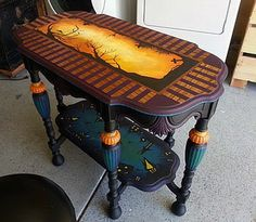 Cynthia Tilker hand painted table https://www.etsy.com/shop/Glassactcc http://www.ebay.com/sch/i.html?_nkw=glassactcc&_armrs=1&_from=R40&_ipg=&_trksid=m37