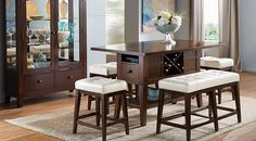 Julian Place Chocolate/Vanilla 5 Pc Counter Height Dining Room from  Furniture