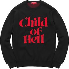 dbb4df7beb120e Supreme - Child of Hell Sweater in Black Red