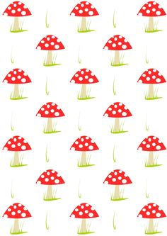 Free digital mushroom scrapbooking paper - ausdruckbares Geschenkpapier - freebie | MeinLilaPark – DIY printables and downloads