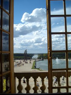 Versailles from the Hall of Mirrors Hall Of Mirrors, Versailles