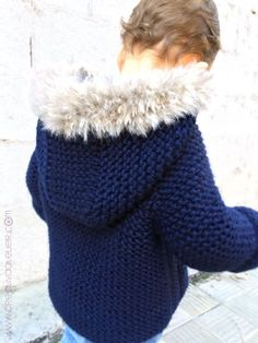 Diy Crafts - Ravelry: Fox Hooded Coat pattern by Marta Porcel Baby Knitting Patterns, Baby Sweater Knitting Pattern, Knit Baby Sweaters, Toddler Sweater, Coat Patterns, Crochet For Boys, Knitting For Kids, Knit Or Crochet, Crochet Baby