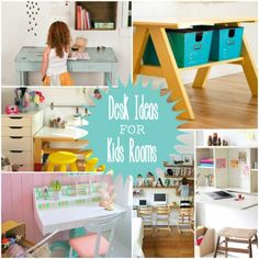 Desk Ideas for Kids Rooms! Fabulous ideas  that will help kids learn in a fun way! Look at all the darling ideas at Decigndazzle.com