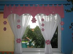 Find top offers for curtain window decoration children& room motif green . Find top offers for curtain window decoration children& room motif green handmade. Kitchen Curtain Designs, Window Curtain Designs, Curtain Styles, Cute Curtains, Curtains And Draperies, Kids Curtains, Curtains Childrens Room, Rideaux Design, Pink Bedroom Decor
