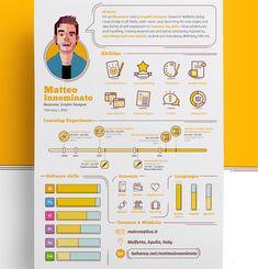 50 Simple & Creative Resume (CV) Design Ideas / Examples For 2017 & Beyond Graphic Design Resume, Resume Design Template, Creative Resume Templates, Cv Template, Creative Resume Design, Design Templates, Resume Layout, Resume Cv, Creative Cv Template