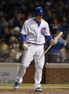 Anthony Rizzo Photos Photos - CHICAGO, IL- MAY 7:  Anthony Rizzo #44 of the Chicago Cubs reacts after striking out during the fourth inning against the St. Louis Cardinals on May 7, 2013 at Wrigley Field in Chicago, Illinois. - Nick Cannon Throws Out the First Pitch in Chicago