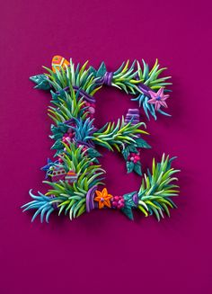 Beautiful Easter Typography by Zim and Zou (made with plasticine).