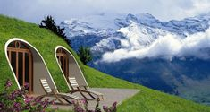 Green Magic Homes are whimsical hobbit house type green living Earth homes with endless design possibilities.From Farming houses to living with nature. Modern Prefab Homes, Prefabricated Houses, Modular Homes, Prefab Cabins, Earthship, Green Magic Homes, Green Homes, Architecture Design Concept, Contemporary Architecture