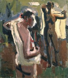 'Les Baigneuses' (The Bathers) by American painter David Park Oil on canvas. via SFMOMA Bay Area Figurative Movement, San Francisco Art, Portraits, People Art, Museum Of Modern Art, Western Art, Life Drawing, Figure Painting, Black Art
