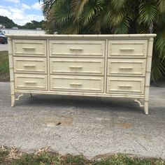 Vintage Dixie Aloha Faux Bamboo 9 Drawer Dresser with by TheLanai Bamboo, Dixie, Drawers, Palm Beach Regency, Furniture, 9 Drawer Dresser, Faux Bamboo, Vintage, Dixie Furniture