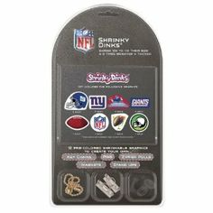 NFL New York Giants Shrinky Dinks by Pangea Brands. $12.46. Adult Supervision Required During Baking. Includes Key Chains, Pins, Zipper Pulls, Magnets, and Stand Ups. Made in the USA. Included 12 Pre-Colored Shrinkable Graphics. The Shrinky Dinks Kit by Pangea Brands contains 12 pre-colored shrinkable graphics to create your own key chains, pins, zipper pulls, magnets, and stand ups in just 4 easy steps! Shrinky Dinks are made of an amazing plastic that shrinks to ...