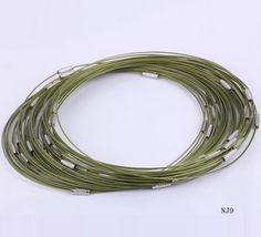 $1.03  18 Inches Green Tiger Tail Necklaces Wire Thread Chain Jewelry Making