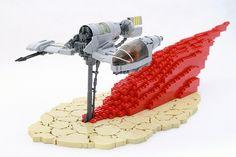 Lego the last jedi star wars skimmer Lego Star Wars Clone, Lego Knights, Lego Spaceship, Star Wars Facts, Lego Builder, Cool Lego Creations, Lego Worlds, Lego Models, Custom Lego