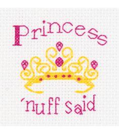 Bucilla My 1st Mini Counted Cross Stitch Kit-Princess