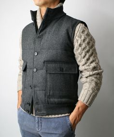 Would you wear a vest and sweater together?