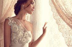 Anna Campbell romantic wedding dress with beading