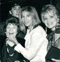 Barbra Streisand with Mom, Son, and Sister