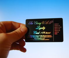 Holographic foils are notoriously difficult to photograph. But this is a pretty good example of the brilliant reflected light that comes from incorporating a holographic foil to your plastic card #inspiration #getcreative #plasticcards