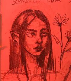 Art Drawings Sketches Simple, Cool Drawings, Pretty Art, Cute Art, Arte Grunge, Grunge Art, Arte Peculiar, Arte Indie, Arte Sketchbook