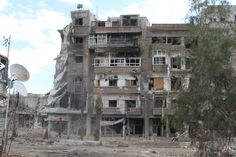 Destruction from the air strike. Syria, Destruction, Cabin, House Styles, Outdoor, Outdoors, Cabins, Cottage, Outdoor Games