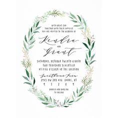 Rustic Wreath Wedding Invitations by Jennie Hake | Elli