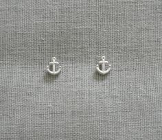 Anchor earrings - I prefer tiny earrings and these are adorable!